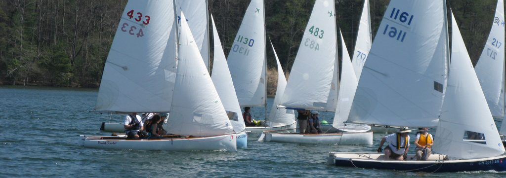 Sailboat racing in a regatta