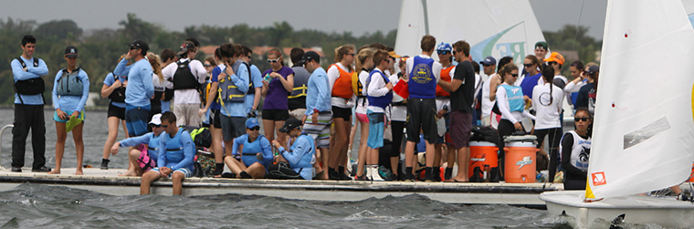 High School Sailing Teams at a South Atlantic Interscholastic Sailing Association Regatta
